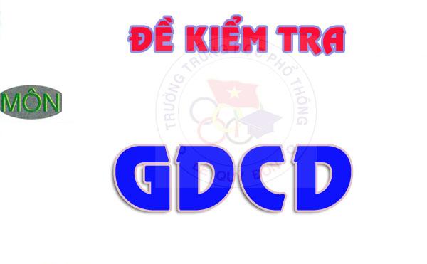 [GDCD] Đề kiểm tra và đáp án giữa HK I năm học 2017-2018